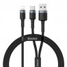 BASEUS PD CABLE 2 IN 1 USB ΣΕ  TYPE C LIGHTNING ΜΑΥΡΟ CATKLF-ELG1