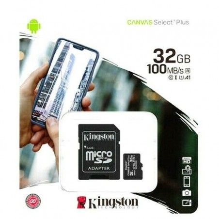 KINGSTON MEMORY CARD 32GB WITH ADAPTOR ΚΑΡΤΑ ΜΝΗΜΗΣ 32GB ΜΕ ΠΡΟΣΑΡΜΟΓΕΑ