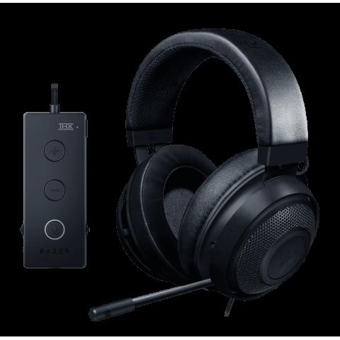 Razer KRAKEN 7.1 TOURNAMENT (Black) - THX Audio Controller - Cooling Gel Ear Cups - Gaming Headset