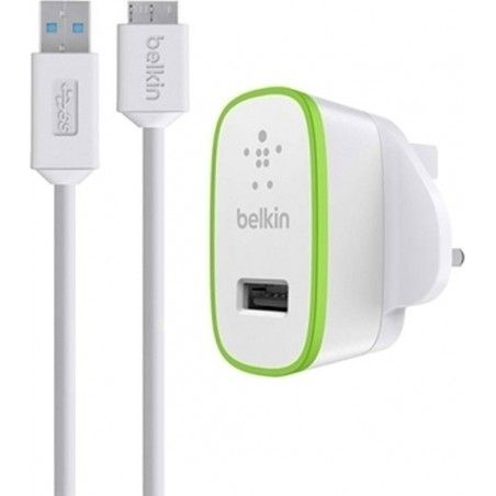 BELKIN MICRO USB 3.0 CABLE & WALL ADAPTER ΛΕΥΚΟ (F8M865VF03)