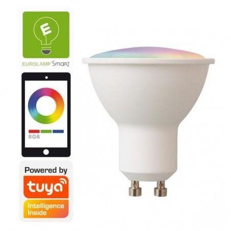 ΛΑΜΠΑ LED SMART WIFI GU10 6W RGBW 220-240V