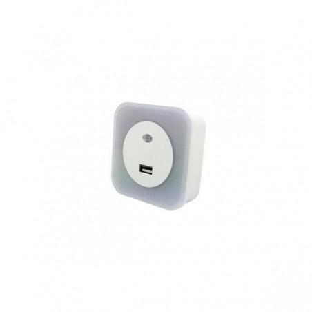 ΦΩΤΑΚΙ ΝΥΚΤΟΣ LED 1.5W 2700Κ 220-240V ΜΕ USB ΚΑΙ ΦΩΤΟΚΥΤΤΑΡΟ 145-15060