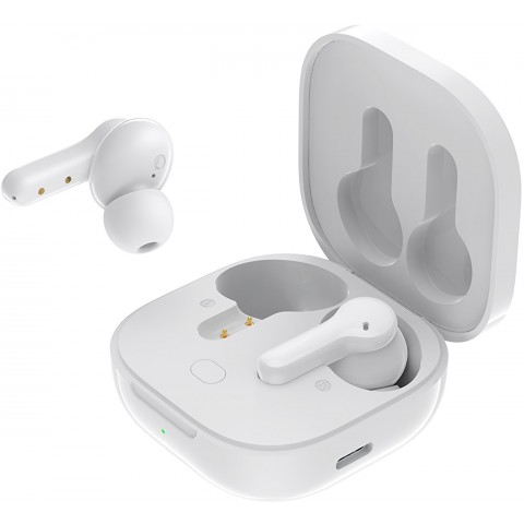 QCY T13 TWS WHITE Dual Driver 4-mic noise cancel. True Wireless Earbuds - Quick Charge 380mAh
