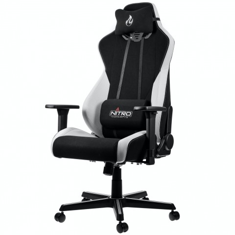 Nitro Concepts S300 Gaming Chair - Quality Fabric & Cold Foam - Radiant White