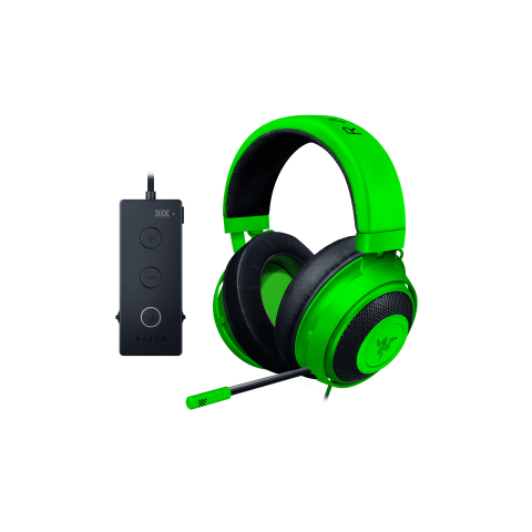Razer KRAKEN 7.1 TOURNAMENT (Green) - THX Audio Controller - Cooling Gel Ear Cups - Gaming Headset