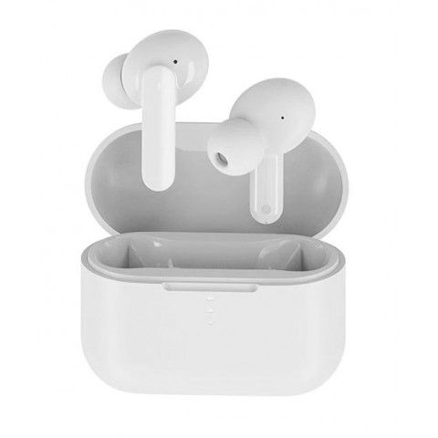 QCY T10 TWS WHITE Dual Armature Driver 4-mic noise cancel. True Wireless Earbuds Quick Charge 600mAh