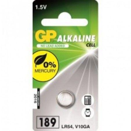 ΜΠΑΤΑΡΙΑ ΑΛΚΑΛΙΚΗ GP (ΚΟΥΜΠΙ) LR54 /189 / V10GA 1.5 V