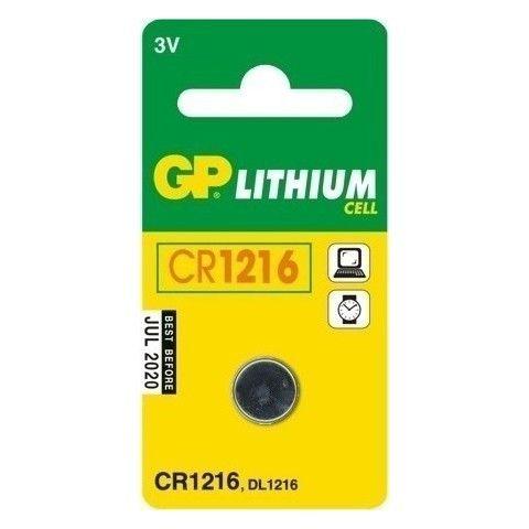 ΜΠΑΤΑΡΙΑ ΚΟΥΜΠΙ ΛΙΘΙΟΥ CR1216 GP GPCR1216-B1 1τμχ