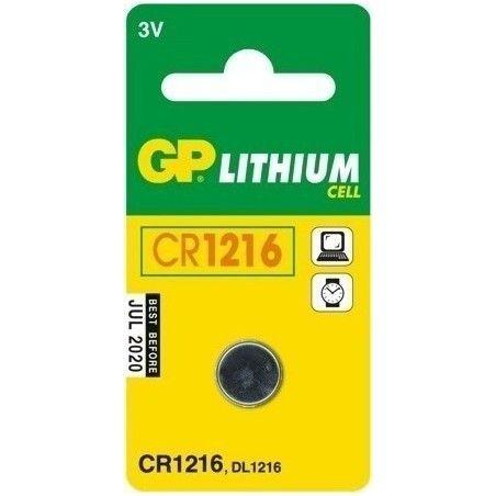 ΜΠΑΤΑΡΙΑ ΚΟΥΜΠΙ ΛΙΘΙΟΥ CR1216 GP GPCR1216-B1 (1TEM)