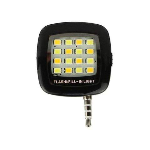 SMARTPHONES SELFI LED LIGHT 3.5mm ΜΑΥΡΟ