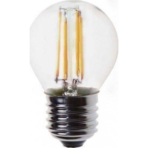 EUROLAMP ΛΑΜΠΑ LED ΣΦΑΙΡΙΚΗ FILAMENT 4W E27 2700K 147-80923